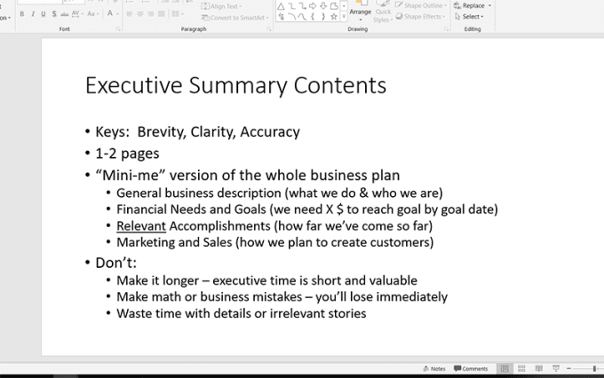 Help in writing business plan