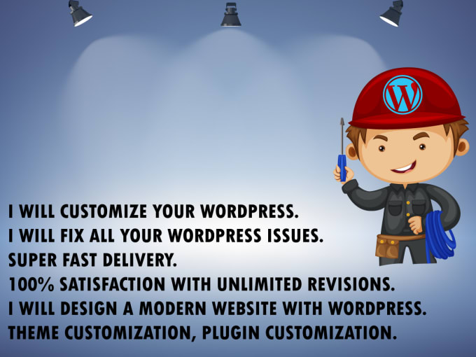 I will revamp, redesign, customize and fix issues wordpress website