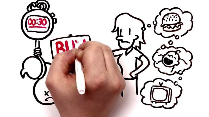 make a whiteboard animation video