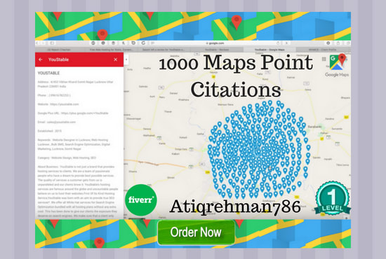300 google maps citations for your business