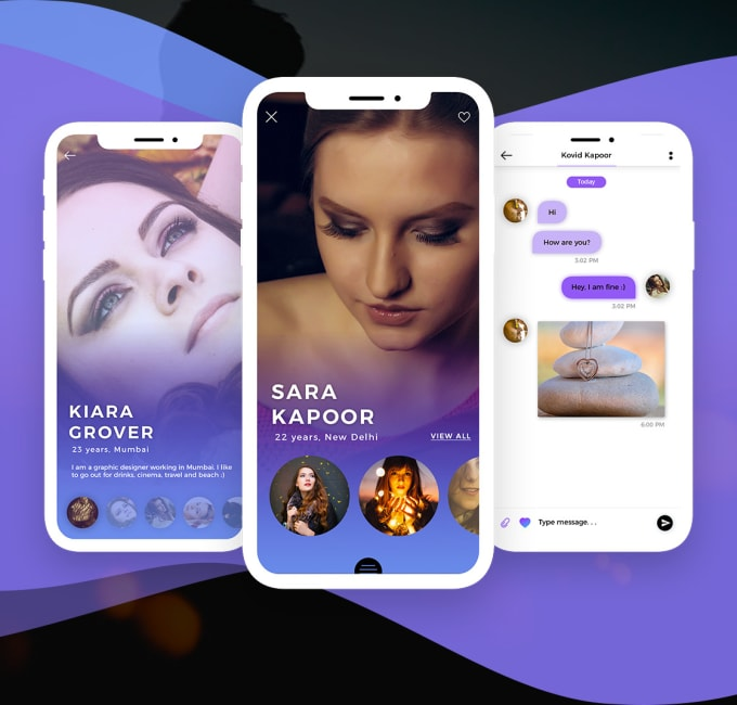 Design dating app for ios and android by Monikachawla911