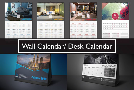 Design Professional Desk Calendar, Wall Calendar By Qlaboratory