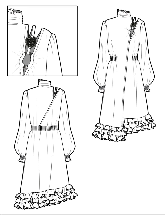 Draw Fashion Illustration Flats Technical Drawings By Maryamalmasi