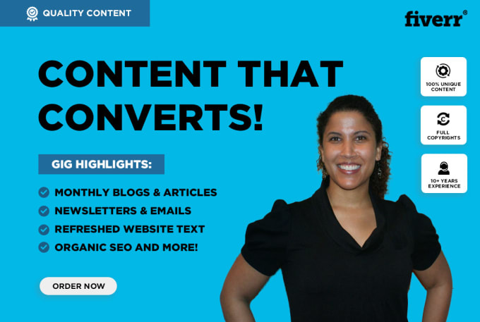 write SEO blog posts, articles, or website content