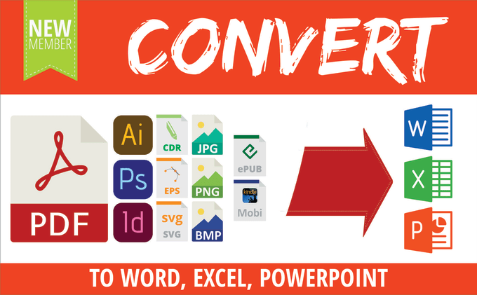 convert pdf  jpg  eps  indd  pds to word  excel  powerpoint by worda77