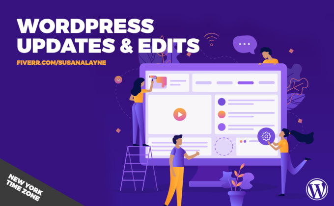 I will edit your existing wordpress website