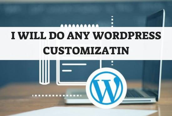 I will do any wordpress customization or redesign wordpress website