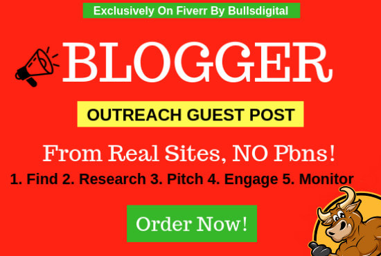 do blogger outreach to get real niche guest post link