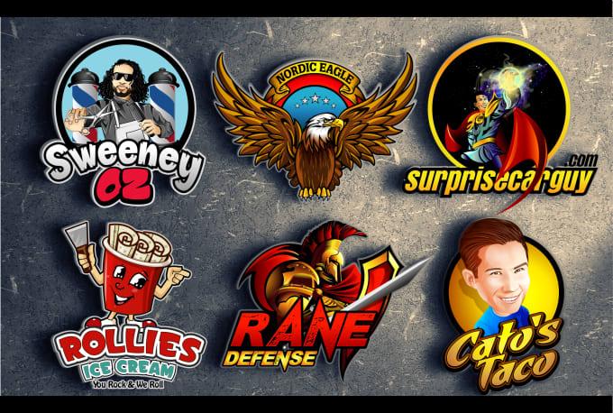 I will do premium cartoon, caricature, mascot, sports logo design