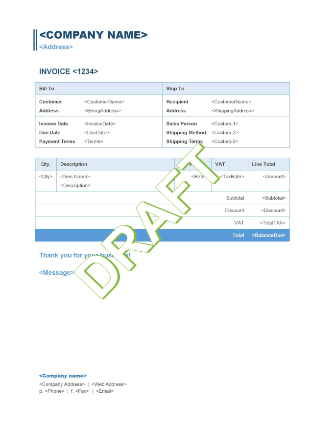 Design Quickbooks Online Custom Invoice Templates By Qbo Proadvisor Fiverr