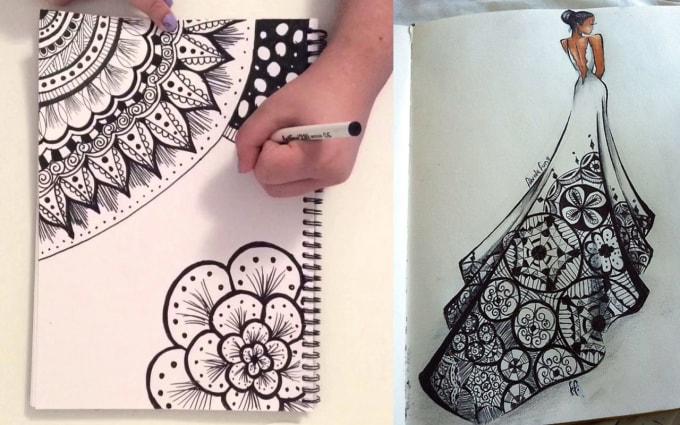 Create Zentangle Doodle Art Or Tribal Pattern By Creativelogos23