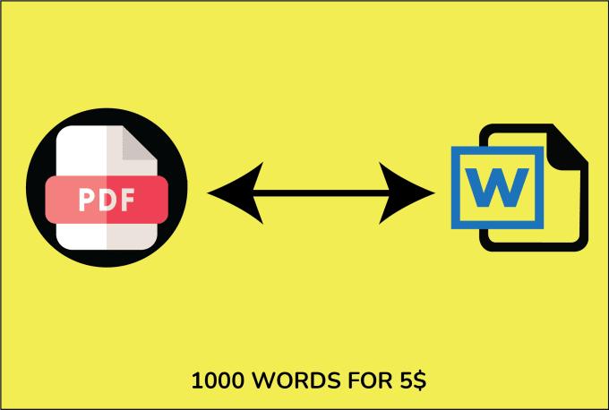 Voy a convertir PDF a palabra
