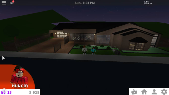 Roblox Bloxburg Home And Cafe Builds By Ii Xray