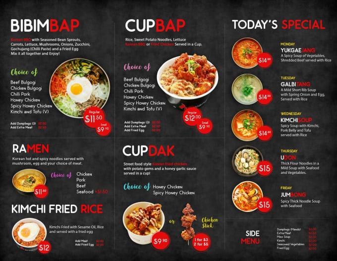 Design food menu, restaurant menu and menu board design by ...