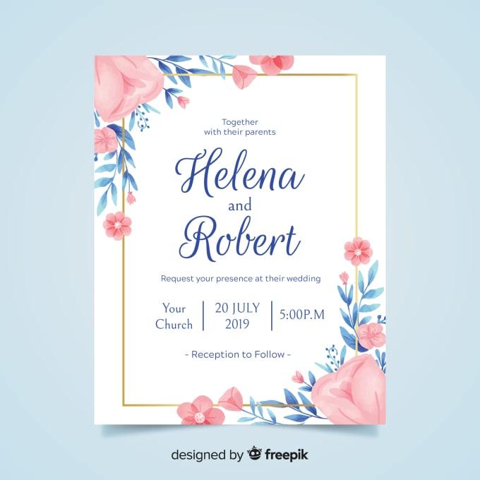 Design elegant invitation cards for your function by Aleenamalik135