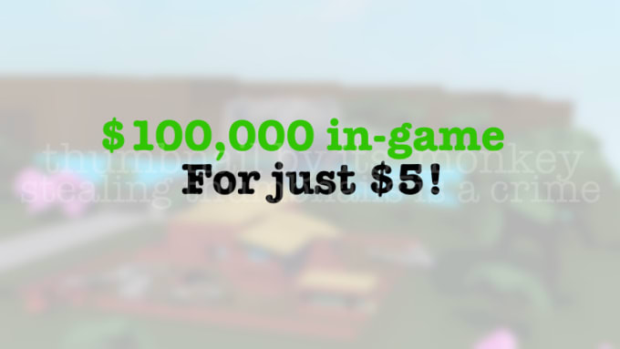 Sell 100k Cash In Lumber Tycoon 2 By Its Monkeyrblx