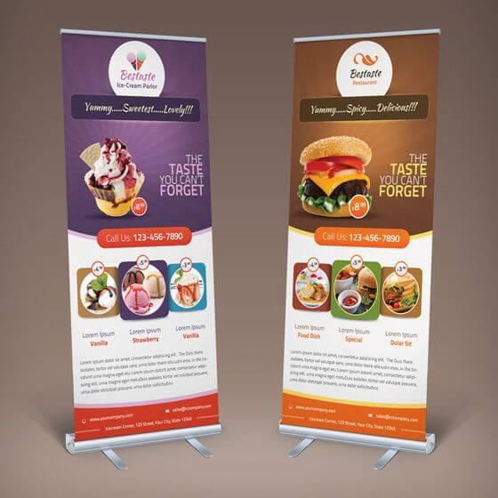 Contoh Desain X Banner Makanan - gambar spanduk