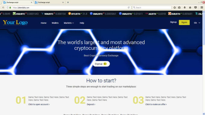 cryptocurrency exchange source code php