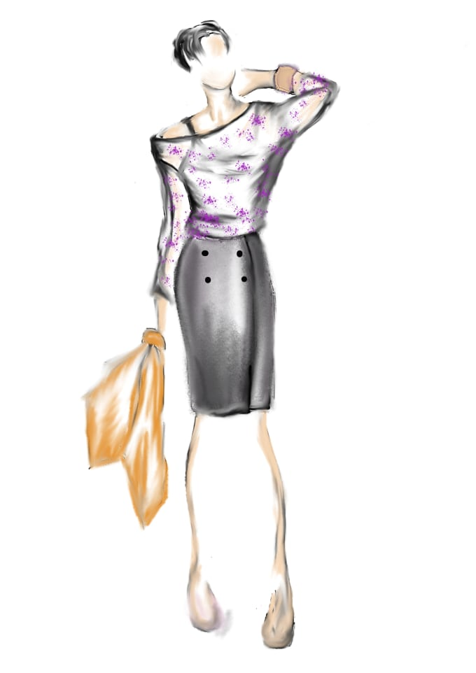 Draw A Fashion Design Sketch By Tanya16khm