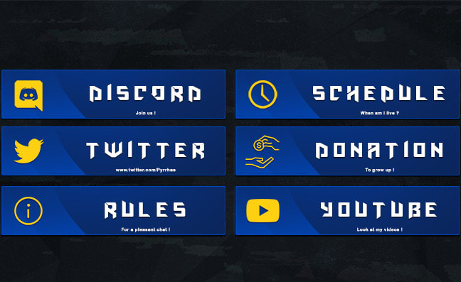 Design Professional Twitch Panels For Your Stream By Pyrrha