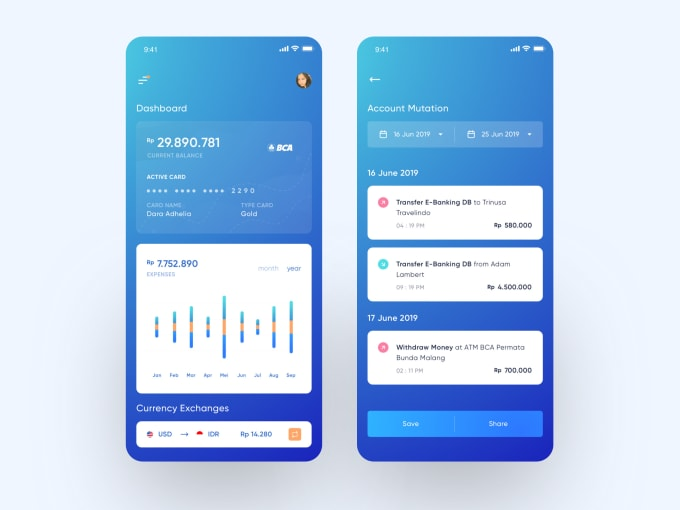 Design Fresh Modern And Clean Mobile App Interfaces By Rahmadhanar