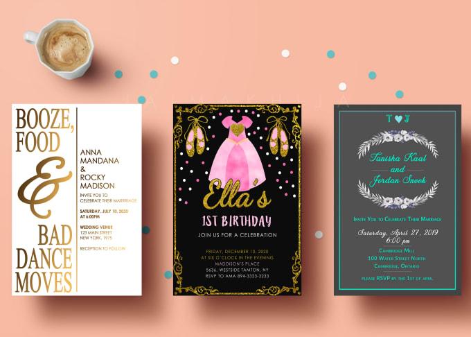 Groovy Design Wedding Invitation Birthday Invitation Save The Date And Funny Birthday Cards Online Fluifree Goldxyz