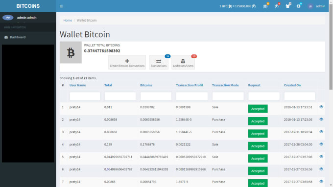 php crypto currency wallet