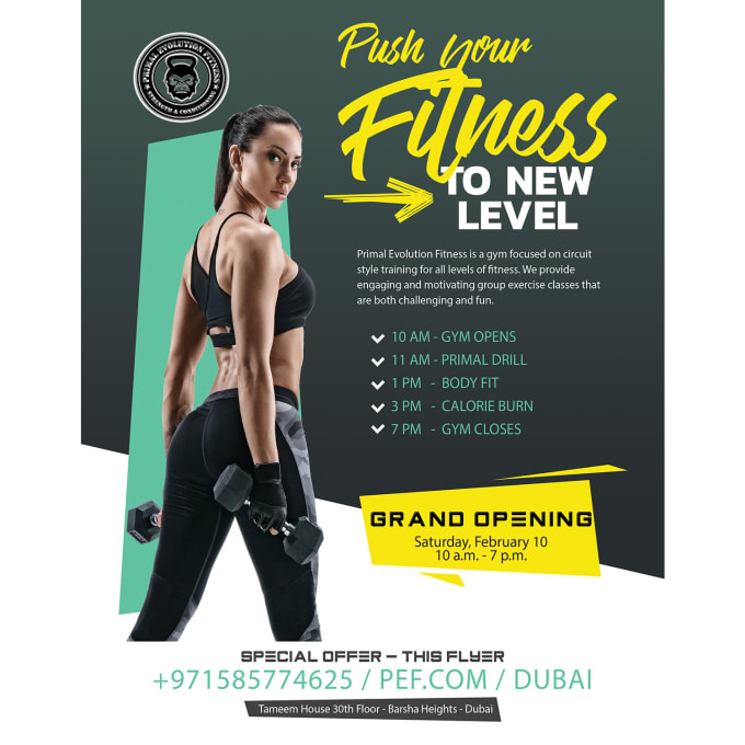 Design A Professional Fitness Flyer By Baberali5566