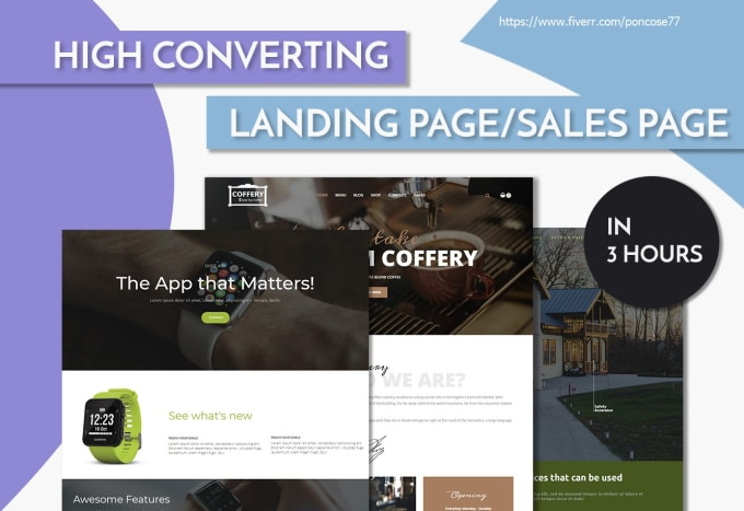 Design Responsive Landing Or Squeeze Or Sales Funnel Page By Poncose77