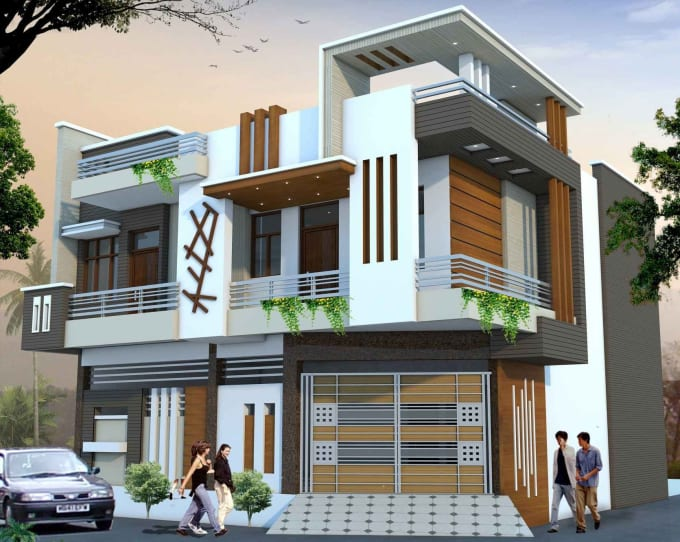 Create fantastic house plans, 3d elevation design rendering by Errajendrasingh