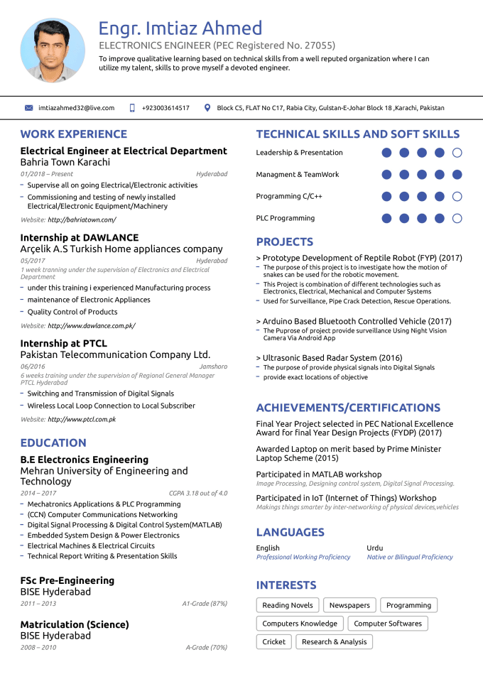 Write A Resume For You I Have 2 Years Experience Over Resume By Imtiaz7077