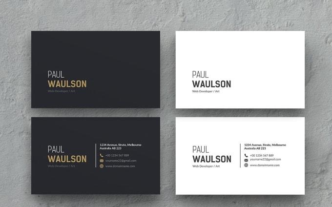 design simple modern elegant business cardcccdesigns