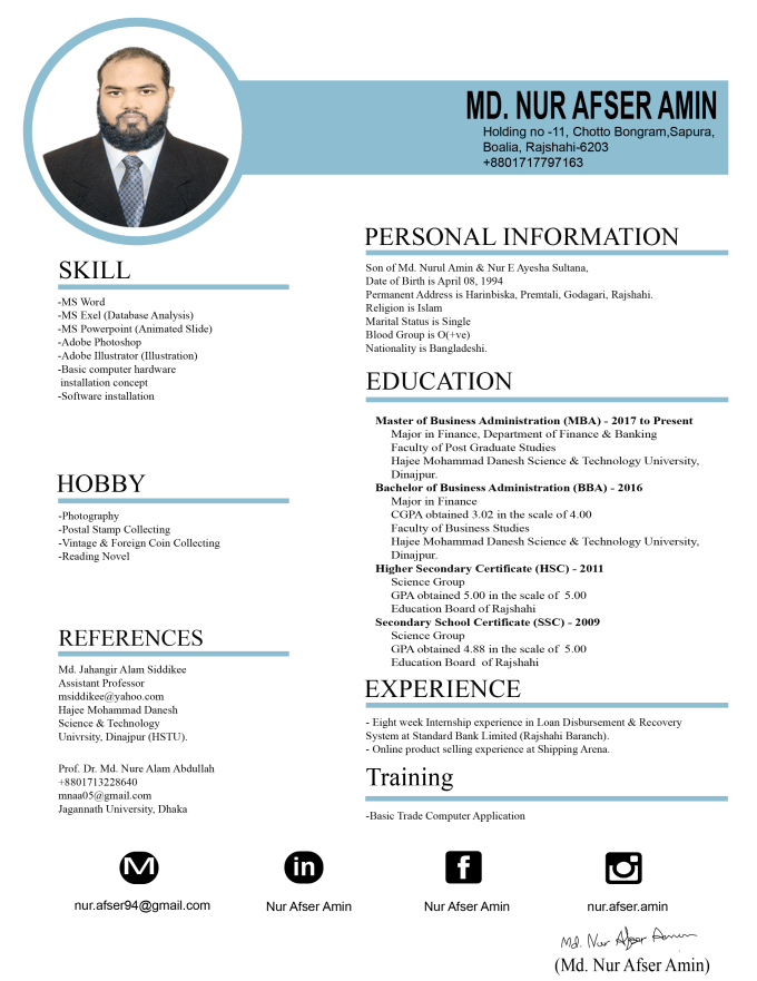 Do Resume Cover Letter And Cv Writing By Nurafser