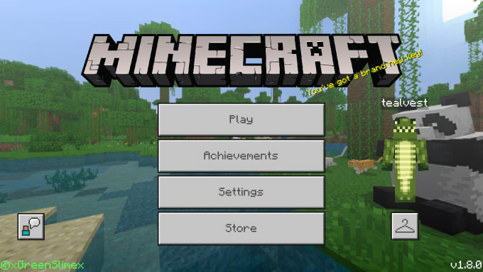 Play minecraft pe with you by Tealvest_game