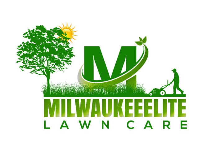 design lawn care and landscaping logo by graphic co