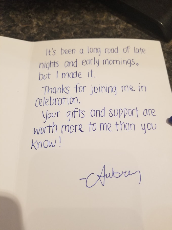 hand write thank you cardsaubrey42088  fiverr