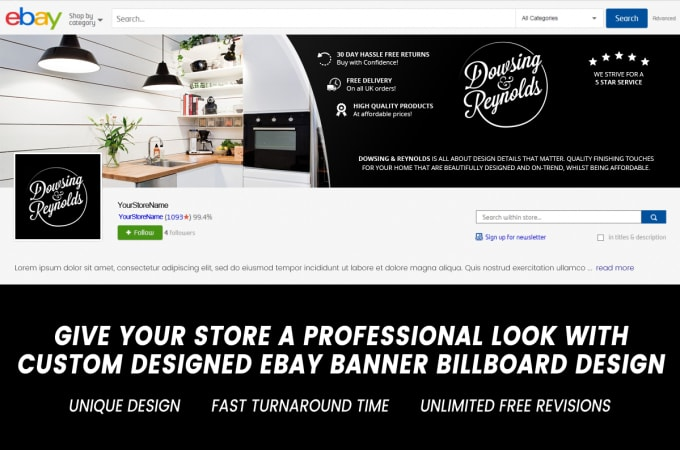 Create Your Ebay Store Banner Billboard Image By Pepik1987