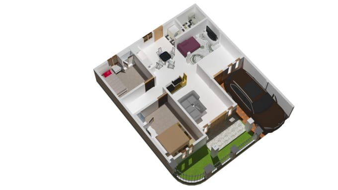 Create 3d From 2d Floor Plan By Nashif Fiverr