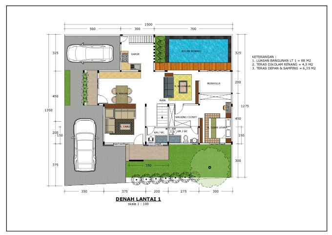 Redraw Your Floor Plan By 2d Autocad Or Sketchup Layout By Feksy88 Fiverr