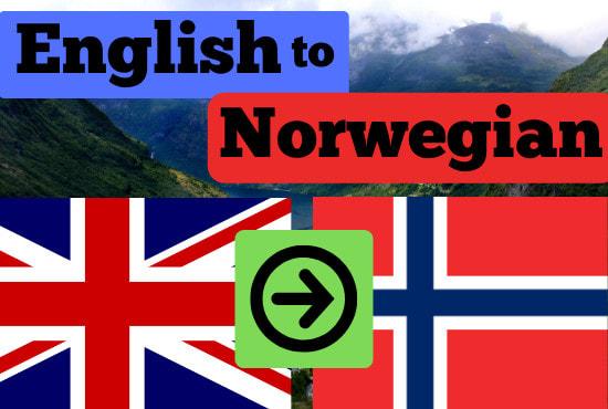 Translate Norwegian English