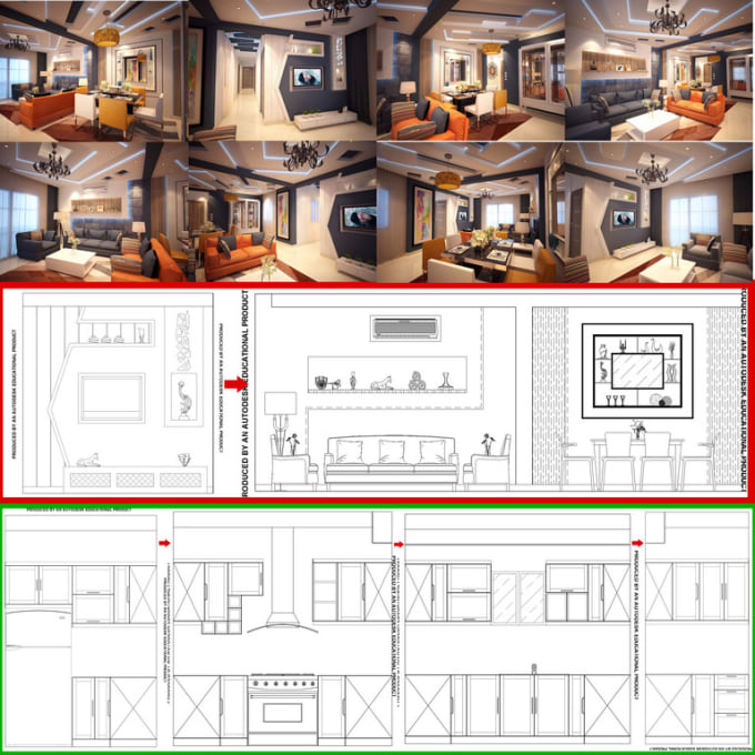 Creative Interior Designer And Convert Pdf Image To Autocad By Marena92