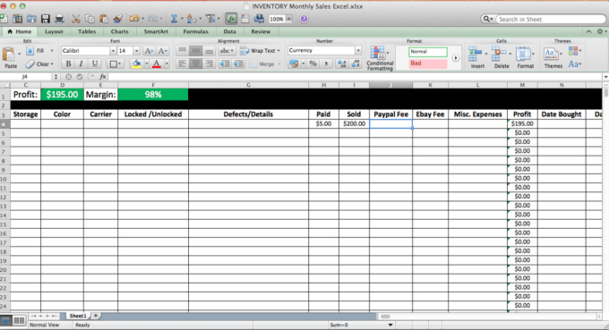 Give You Monthly Sales Excel Spreadsheet Template By Lrbmusicinc