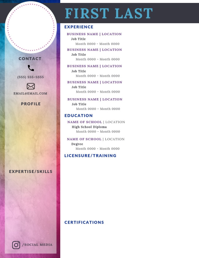 Colorful Resume from fiverr-res.cloudinary.com