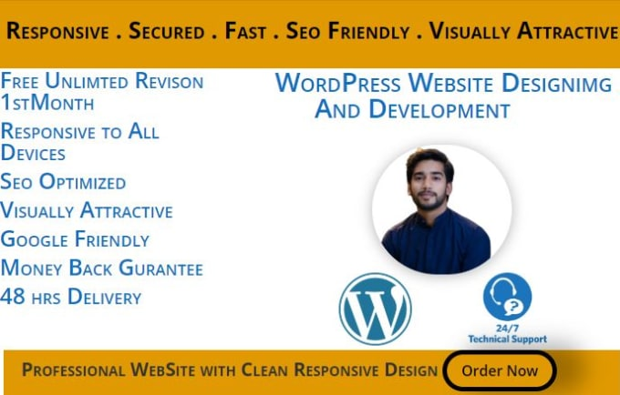 develop stunning wordpress website
