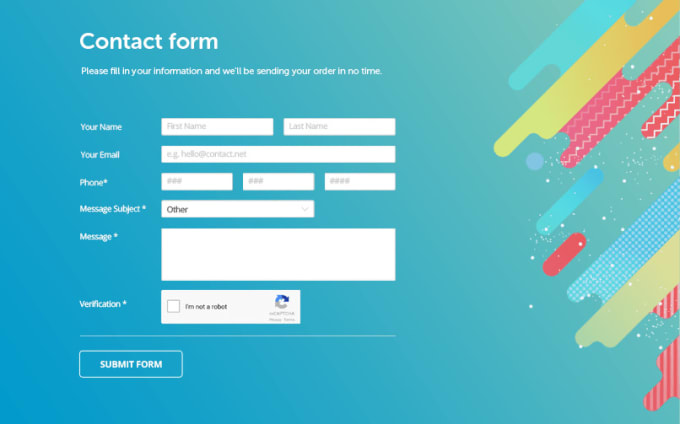 Create Html Form And Web Page Design For Your Web By Mhrocky