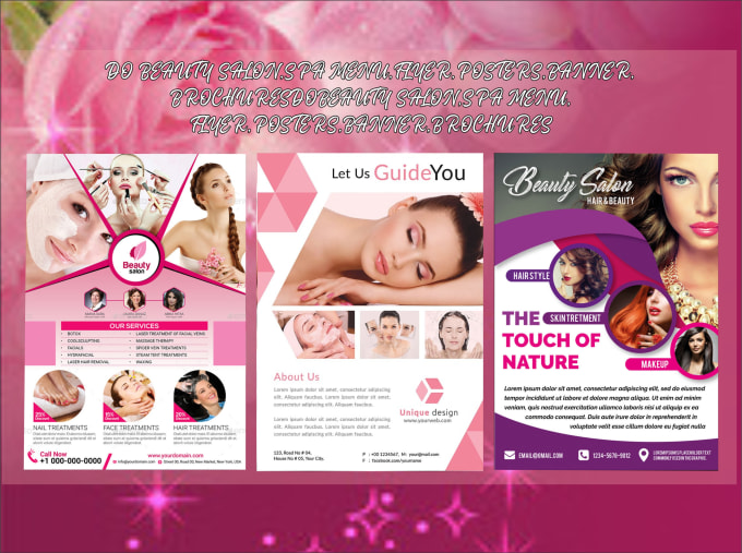 Do Beauty Salon Spa Menu Flyer Posters Banner Brochures By Zsgraphics