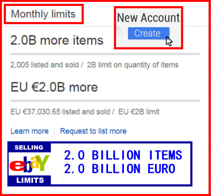 Make A New Ebay Seller Account Without Selling Limit By Moussa337