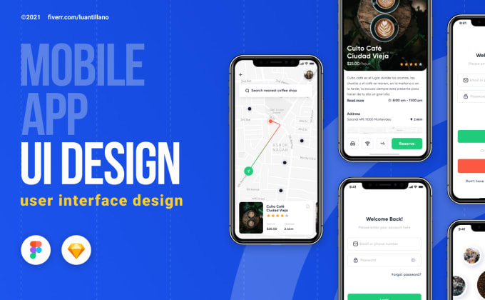 create an amazing mobile app UI UX design