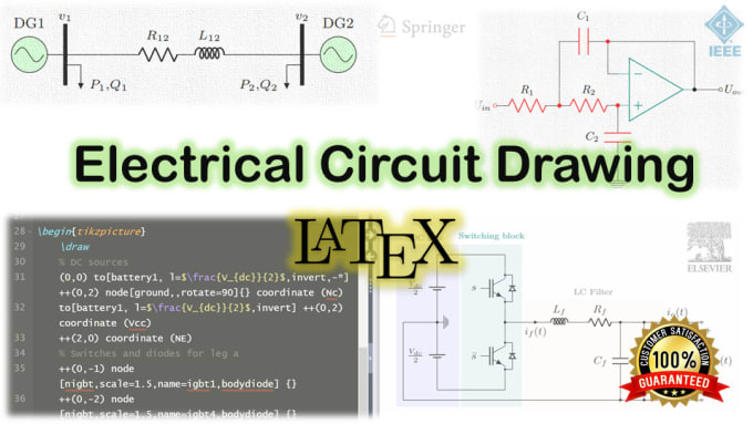Draw Your Electric Circuit Diagrams In Latex By Msdezigner