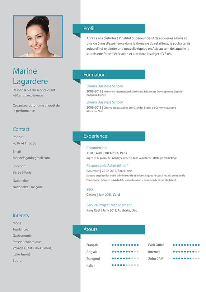 Create An Attractive Cv Or Resume By Mariamajili